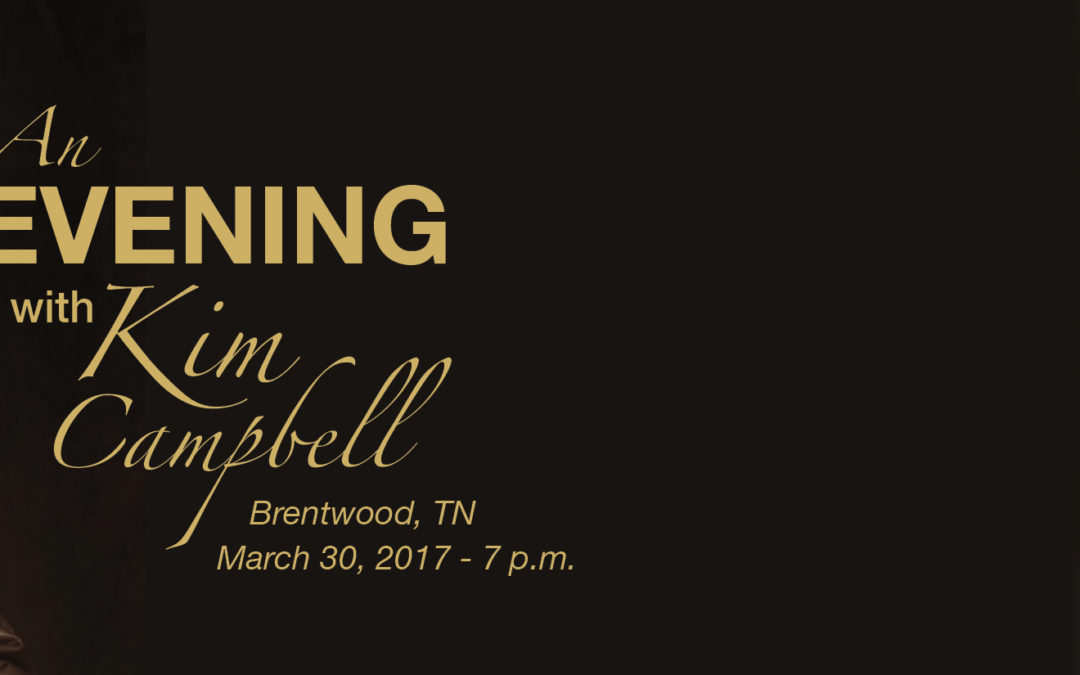 Save the Date – Kim Campbell to Share Message of Hope in Brentwood, TN on March 30